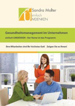 Flyer Titel Gesundheitsmanagement im Unternehmen