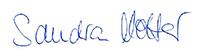 Unterschrift Sandra Molter
