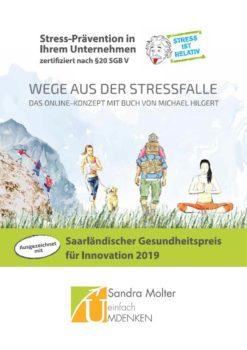 Flyer Titel Wege aus der Stressfalle